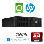 PC HP EliteDesk 705 G1 SFF AMD A4-7300B 3.4GHz 4Gb 500Gb noODD Windows 10 Professional