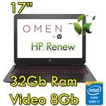 Notebook HP Omen 17-an002nl i7-7700HQ 32Gb 1Tb + 512 Gb NVIDIA GeForce GTX 1070A 8GB 17,3' Windows 10 Home