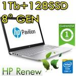 Notebook Pavilion 15-cc106nl i7-8550U 16Gb 1Tb + 128Gb SSD NVIDIA GeForce 940MX 4GB 15.6' Windows 10 Home