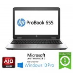 Notebook HP ProBook 655 G1 AMD A10-5750M 4Gb 500Gb 15.6' FHD AG LED Windows 10 Professional