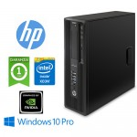 Workstation HP Z240 SFF Xeon E3-1230 V5 3.4GHz 8Gb 1Tb NVIDIA NVS 510 2GB DVD-RW Windows 10 Professional