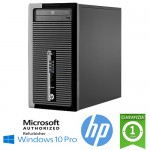 PC HP ProDesk 400 G1 MT Core i5-4570 3.2GHz 4Gb 500Gb DVD-RW SERIALE Windows 10 Professional TOWER