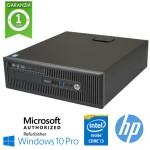 PC HP ProDesk 400 G1 Core i3-4130 3.4GHz 4Gb 500Gb DVD-RW Windows 10 Professional SFF