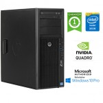 Workstation HP Z420 Xeon Octa Core E5-2650 1.80GHz 64Gb 512Gb SSD DVD Nvidia Quadro 4000 2Gb Windows 10 Pro.