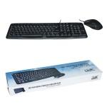Kit Tastiera e Mouse USB Link LKTAST08 Nera Con Mouse Ottico NUOVO