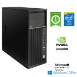 Workstation HP Z240 Tower Xeon E3-1280 V5 3.7GHz 32Gb 256Gb SSD Quardo M4000 8GB DVD-RW Windows 10 Pro.
