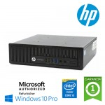 PC HP EliteDesk 800 G1 USDT Core i3-4150T 3.0GHz 4Gb Ram 500Gb nODD Windows 10 Professional
