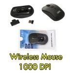 MOUSE WIRELESS 3 TASTI NERO RICEVITORE USB 1000 DPI NUOVO