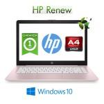 Notebook HP Stream 14-ds0003nl AMD A4-9120e 4Gb 64Gb eMMC 14' HD BV LED Windows 10 HOME S