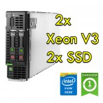 Blade Server HP BL460C Gen 9 (2) XEON E5-2660 V3 2.6GHz 512Gb Ram 2x 240Gb SSD
