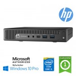 UltraSlim Tiny PC HP ProDesk 600 G2 DM Core i5-6500T 2.5GHz 8Gb Ram 256Gb SSD NO-ODD Windows 10 Professional