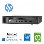 UltraSlim Tiny PC HP EliteDesk 800 G2 DM Core i3-6100T 3.2GHz 8Gb Ram 500Gb NO-ODD Windows 10 Professional