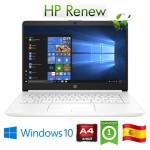Notebook HP 14-dk0025ns AMD A4-9125 2.3GHz 4Gb 256Gb SSD 14' HD LED Windows 10 HOME [LINGUA SPAGNOLA]