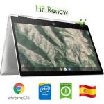 Notebook HP Chromebook x360 14b-ca0000ns CEL N4000 1.1GHz 2Gb 64Gb 14' FHD LED TS Chrome OS [LINGUA SPAGNOLA]