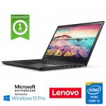 Notebook Lenovo ThinkPad T470s Core i5-7300U 2.6GHz 8Gb 512Gb SSD 14' Windows 10 Professional