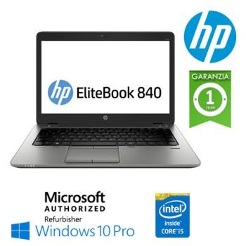Notebook HP EliteBook 840 G1 Core i5-4310U 8Gb 256Gb SSD 14' HD LED Windows 10 Professional [GRADE B]