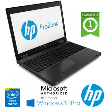 Notebook HP ProBook 6570b Core i5-3360M 2.8GHz 4Gb 500Gb 15.6' LED DVD-RW SERIALE Windows 10 Professional
