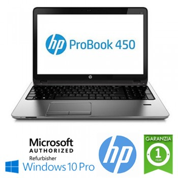 Notebook HP ProBook 450 G2 Core i5-4210U 1.7GHz 4Gb 750Gb 15.6' HD LED DVDRW WEBCAM Windows 10 Pro J4S19EA