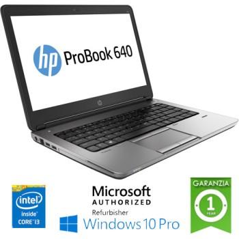 Notebook HP ProBook 640 G1 Core i3-4000M 4Gb 500Gb 14.1' HD AG LED Windows 10 Professional