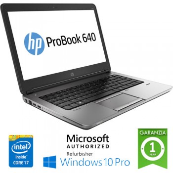 Notebook HP ProBook 640 G1 Core i5-4210M 8Gb 320Gb 14.1' HD AG LED Windows 10 Professional
