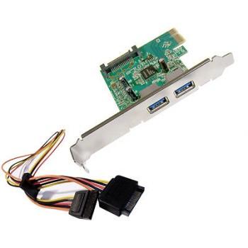 Scheda PCI Express a 2 Porte USB 3.0 HP 607782-001
