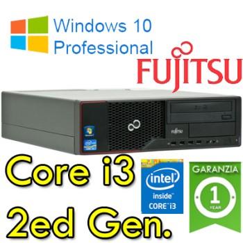 PC Fujitsu Esprimo E500 Core i3-2120 3.3GHZ 4Gb Ram 250Gb DVD Windows 10 Professional
