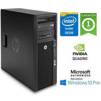 Workstation HP Z420 Xeon Quad Core E5-1620 3.6GHz 16Gb 500Gb DVD-RW Nvidia Quadro 600 1Gb Windows 10 Pro.