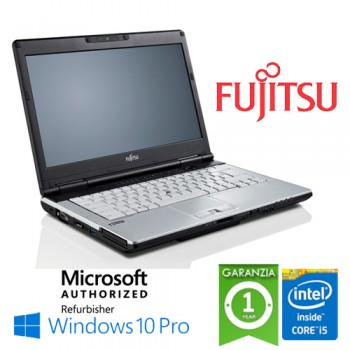 Notebook Fujitsu Lifebook S781 Core i5-2450M 8Gb Ram 320Gb DVD-RW 14' Windows 10 Professional