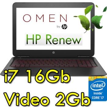 Notebook HP OMEN 15-ax000nl Core i7-6700HQ 16Gb 1Tb+128Gb SSD 15.6' FHD Nvidia GeForce 965M 2G Windows 10 HOME