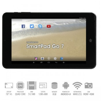 Tablet Mediacom SmartPad Go 7 Cortex A7 512Mb 8Gb LCD 7' GPS Wifi Bluetooth Android 4.4