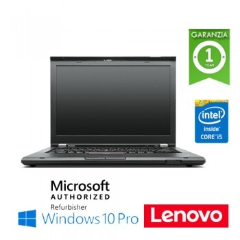 Notebook Lenovo Thinkpad T430 Core i5-3320M 4Gb 180Gb SSD 14' WEBCAM DVD-RW Windows 10 Professional