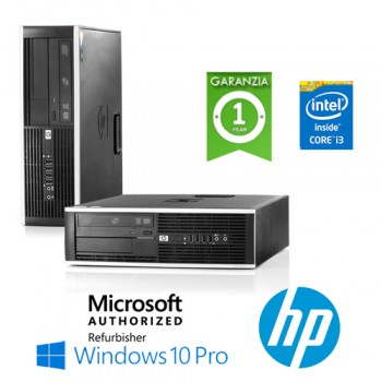 PC HP Compaq 8300 Elite Core i3-3220 3.3GHz 4Gb Ram 250Gb DVD SFF Windows 10 Professional