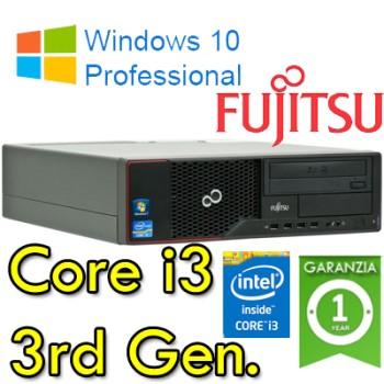 PC Fujitsu Esprimo E510 Core i3-3220 3.3GHZ 4Gb Ram 250Gb DVD-RW Windows 10 Professional