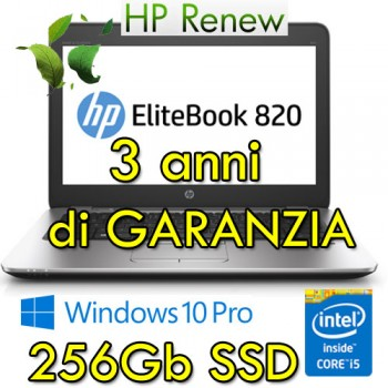 Notebook HP EliteBook 820 G3 i5-6200U 8Gb 256Gb SSD 12.5' FHD LED Windows 10 Professional Z2X36ES Z2X37ES 3Y