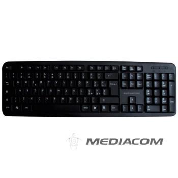 Tastiera Mediacom CX2000 M-SKB2000B USB 104 Tasti Black NUOVA