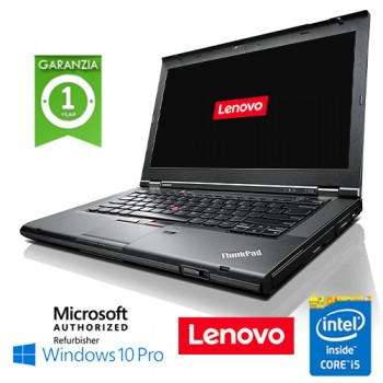 Notebook Lenovo Thinkpad T430 Core i5-3320M 8Gb 500Gb 14' WEBCAM DVDRW Windows 10 Professional