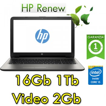 Notebook HP 15-ay065nl Core i5-6200U 16Gb 1Tb 15.6' HD BV LED AMD Radeon R5 M1-30 2GB Windows 10 HOME