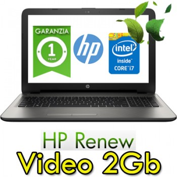 Notebook HP 15-ay035nl Core i7-6500U 8Gb 500Gb 15.6' HD BV LED AMD Radeon R7 M440 2GB Windows 10 HOME