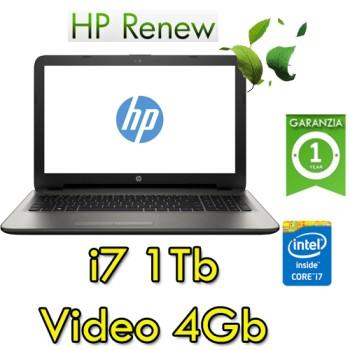 Notebook HP 15-ay051nl Core i7-6500U 16Gb 1Tb 15.6' HD BV LED AMD Radeon R7 M440 4GB Windows 10 HOME