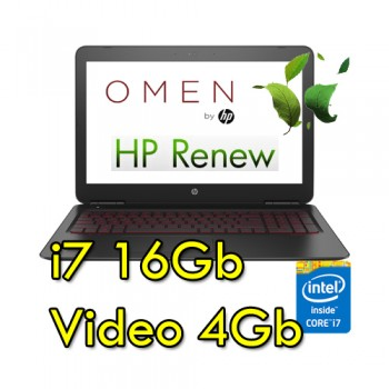 Notebook HP OMEN 15-ax207nl Core i7-7700HQ 16Gb 1Tb 15.6' FHD NVIDIA GeForce GT1050 4GB Windows 10 HOME