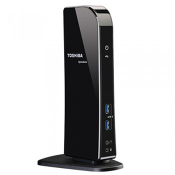 Hi Speed Port Replicator Docking Toshiba PA3927E-1PRP Toshiba Dynadock U3 USB 3.0 Type-A Black No Alimentatore