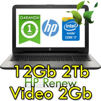 Notebook HP 15-ay121nl Core i7-7500U 12Gb 1Tb 15.6' HD BV LED AMD R7 M1-70 2GB Windows 10 HOME
