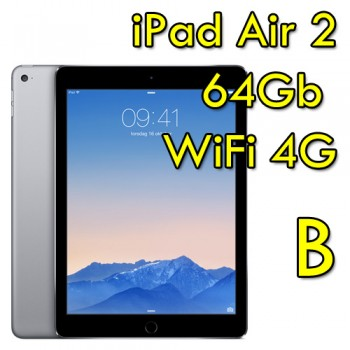 iPad Air 2 64Gb Grigio Siderale WiFi Cellular 4G 9.7' Retina Bluetooth Webcam MGHX2TY/A [GRADE B]