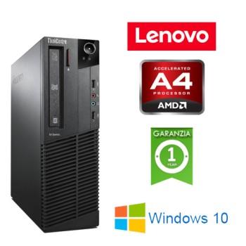 PC Lenovo Thinkcentre M78 AMD A4-5300B 3.4GHz 4Gb Ram 500Gb DVDRW Windows 10 HOME