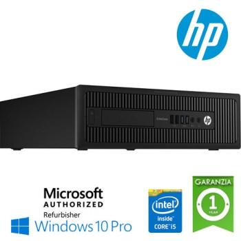 PC HP EliteDesk 800 G1 SFF Core i5-4590 3.3GHz 8Gb 500Gb noODD Windows 10 Professional