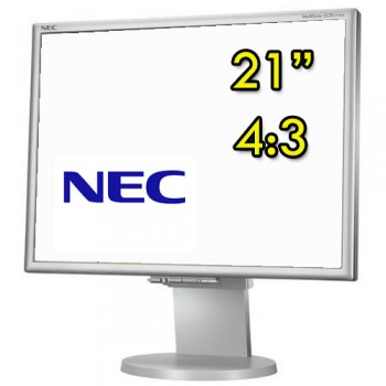 Monitor PC LCD 21 Pollici NEC MultiSync LCD2170NX DVI VGA Silver White 4:3