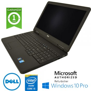 Notebook Dell Latitude E5540 Core i5-4200U 1.6GHz 8Gb Ram 500Gb 15.6' DVD-RW TAST NUM Windows 10 Professional