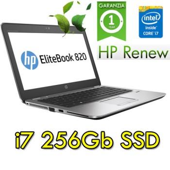 HP Elitebook 820  G3 i7-7500U 8Gb Ram 256Gb SSD 12.5' Windows 10 Professional