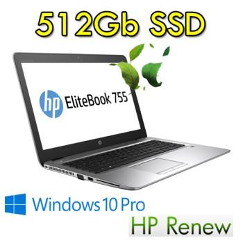 Notebook HP EliteBook 755 G4 AMD A12-9800B 16Gb 512Gb SSD 15.6' FHD Backlit Windows 10 Professional 3Y