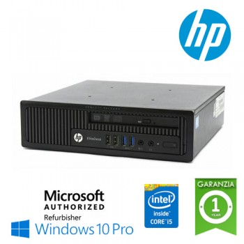 UtraSlim PC HP EliteDesk 800 G1 USDT Core i5-4570s 2.9GHz 4Gb Ram 500Gb DVDRW Windows 10 Professional